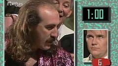 Santiago Segura en la prueba final de 'No te rías que es peor' (1990)