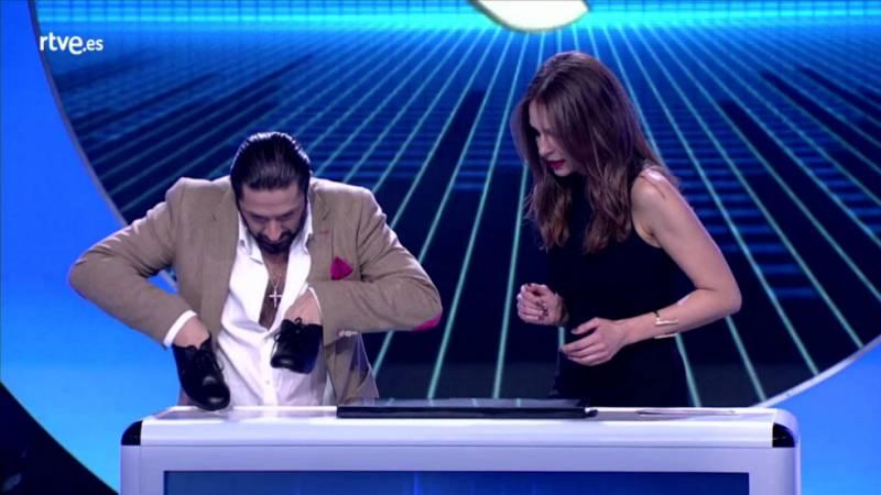 El gran reto musical - ¡Rafael Amargo taconea con las manos!