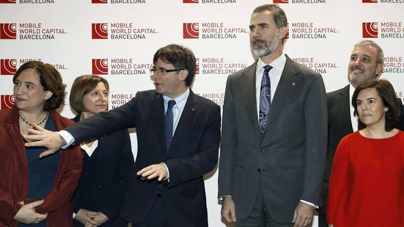 El rey inaugura en Barcelona la 12ª edición del  Mobile World Congress