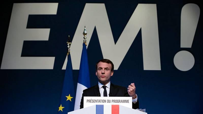 Emmanuel Macron presenta su programa para las elecciones francesas