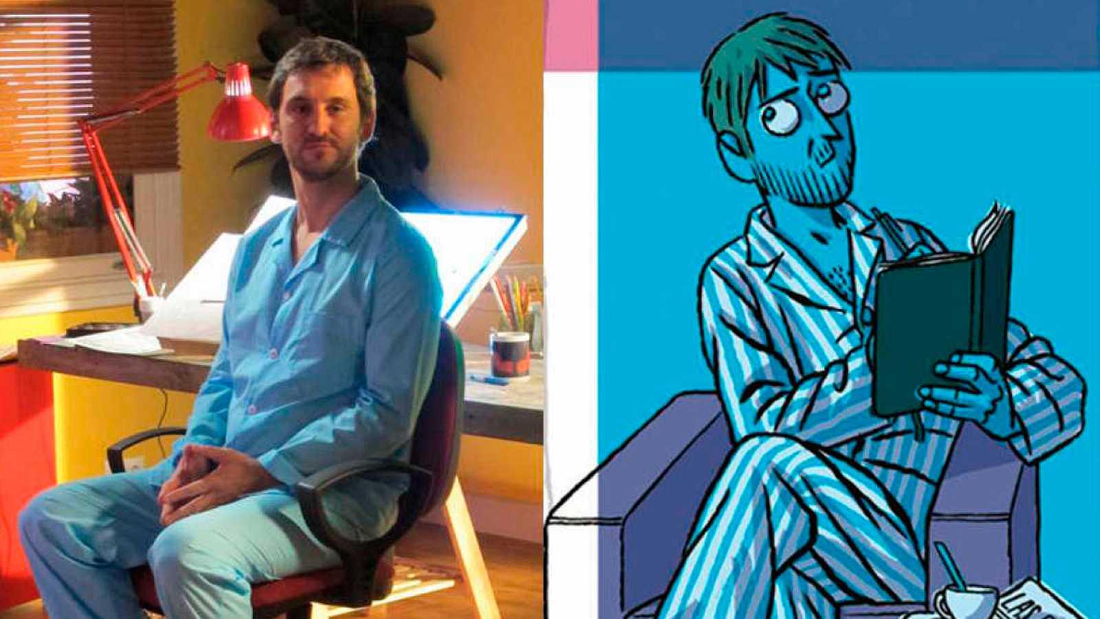 Visitamos el rodaje de 'Memorias de un hombre en pijama', la adaptación del cómic de Paco Roca