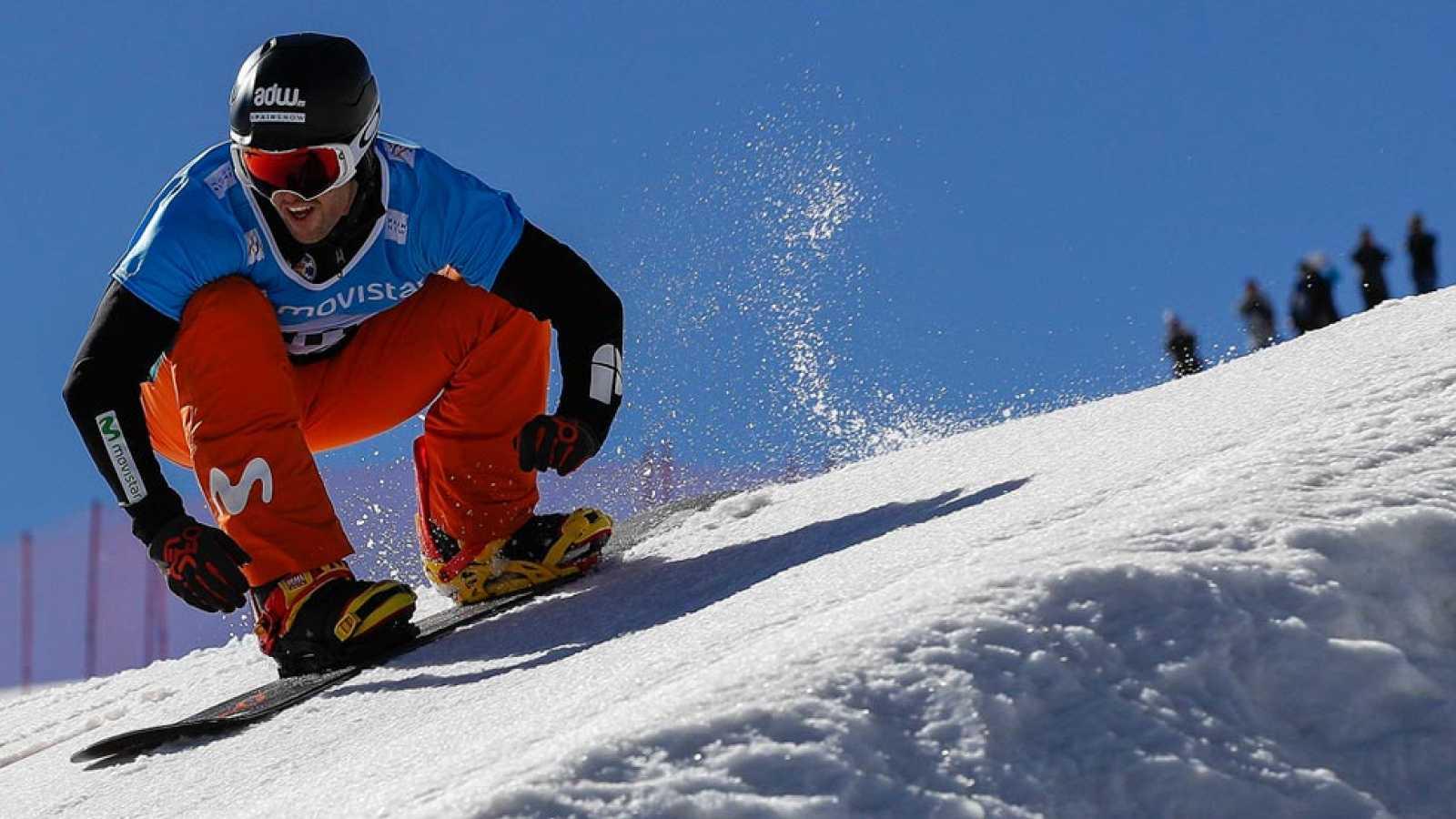 El donostiarra Lucas Eguibar se ha colgado la medalla de plata en la modalidad de boardercross en el Mundial de Sierra Nevada 2017 de snowboard y freestyle.