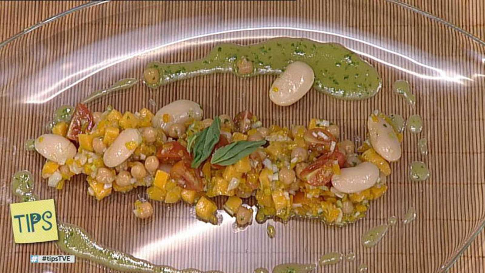 TIPS - Cocina - Legumbres con picadillo de pimiento y cebolleta