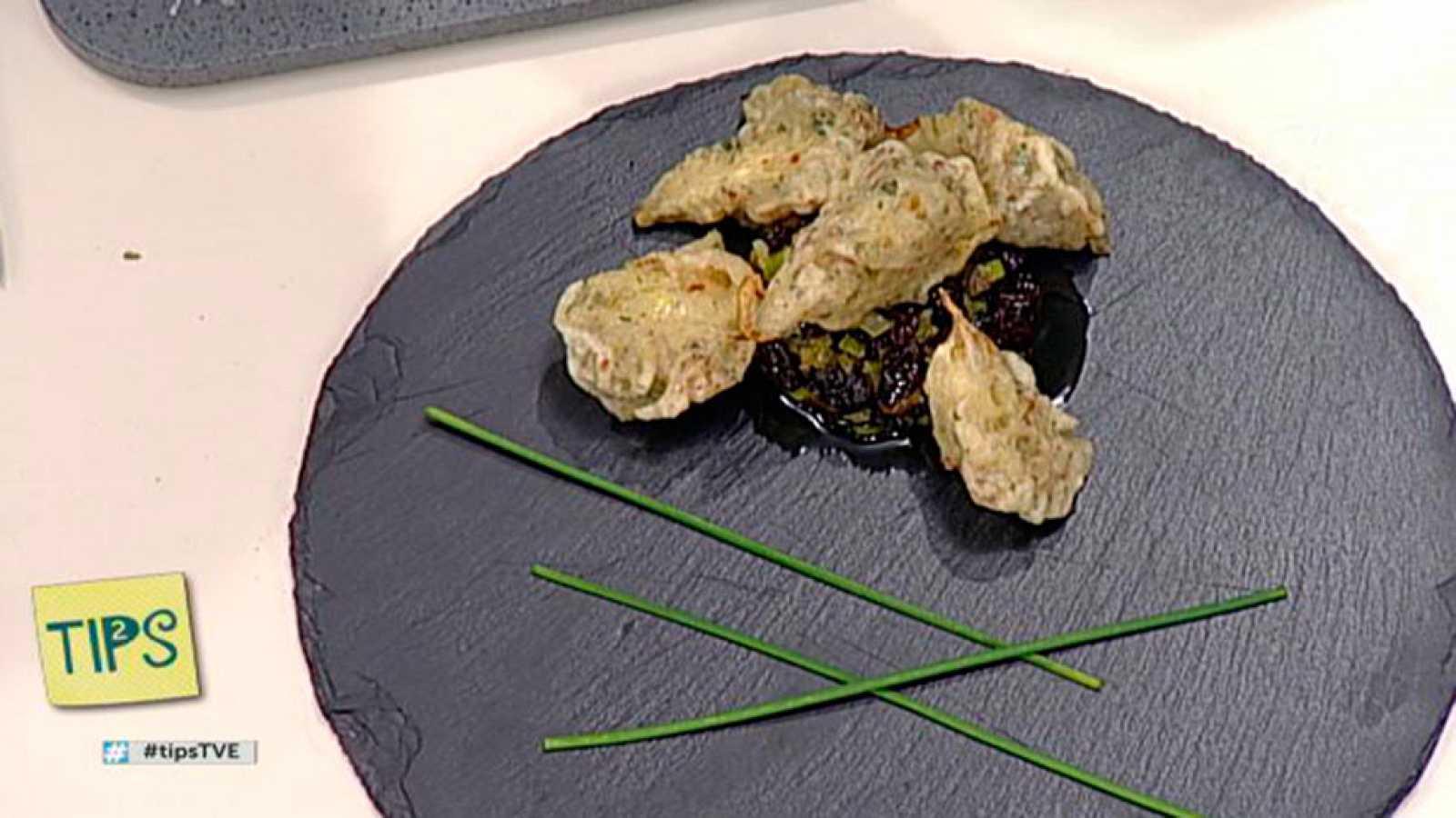 TIPS - Cocina - Alcachofas en tempura con sal de jamón