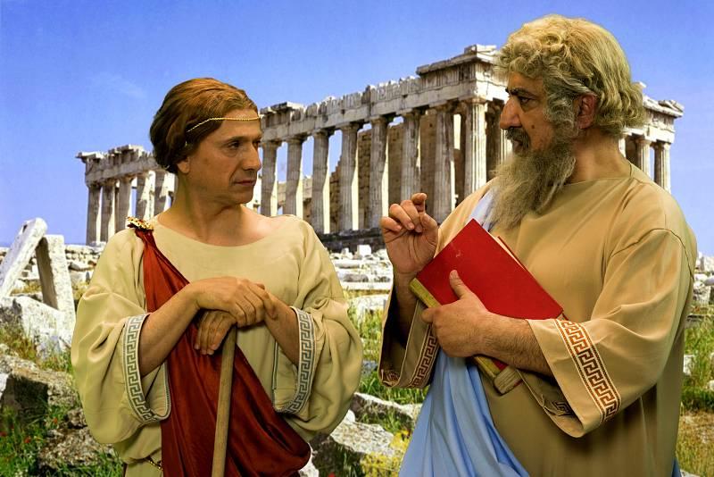 La bronca de Jantipa a Sócrates por no dejar hablar a Platón