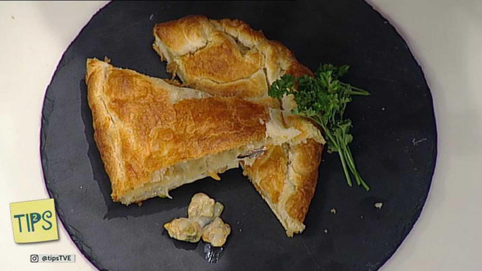 TIPS - Cocina - Empanada de berberechos y mejillones al albariño