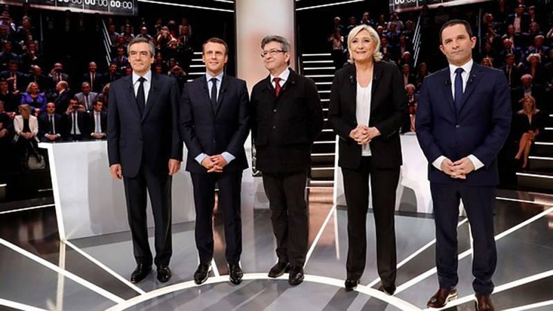 Marine Le Pen y Emmanuel Macron protagonizan el primer debate entre candidatos a la presidencia