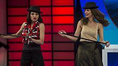 El gran reto musical - Natalia Millán enseña los pasos básicos del cabaret a Eva