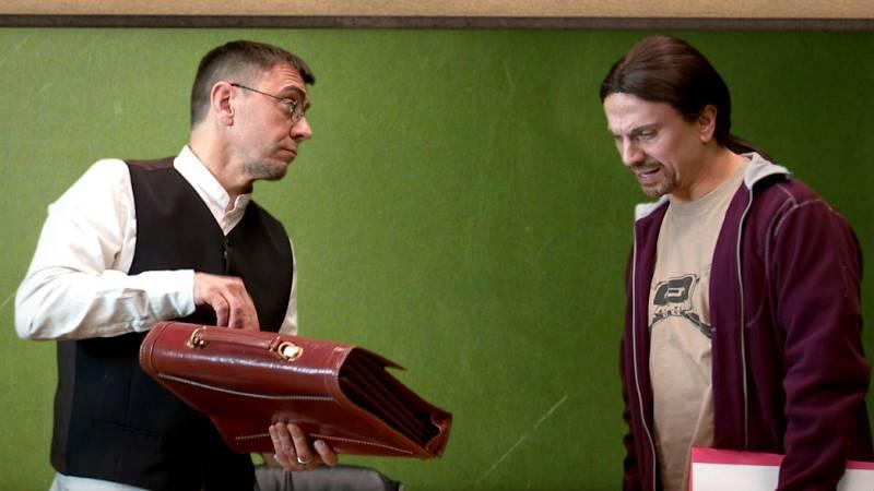 Monedero intenta dar una clase sobre la revolución francesa a Pablo Iglesias