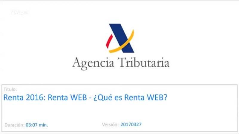 Declaración IRPF 2016: ¿qué es Renta WEB?