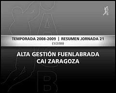 AG Fuenlabrada 103-80 CAI Zaragoza