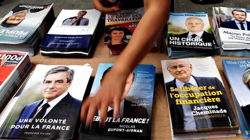 La campaña electoral francesa llega a su recta final con empate entre los cuatro primeros candidatos