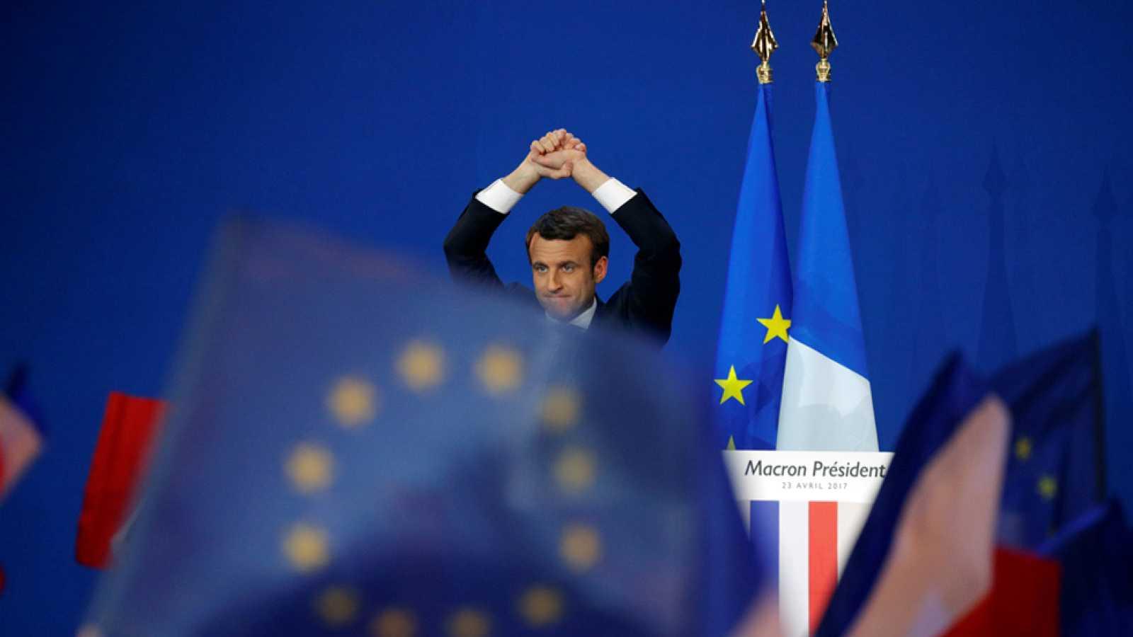 """Macron: """"El pueblo francés ha decidido ponerme en primer lugar en la primera vuelta de las elecciones"""""""