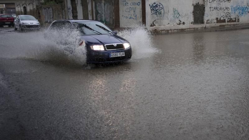 El temporal de lluvia inunda Huelva con mas de 110 litros por metro cuadrado