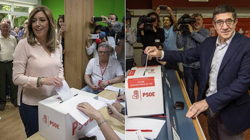 Díaz y López votan convencidos de que la recuperación del PSOE comenzará este lunes