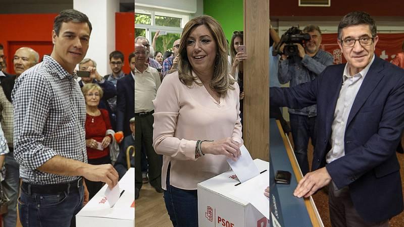 Los candidatos votan convencidos en que la recuperación del PSOE comenzará este lunes