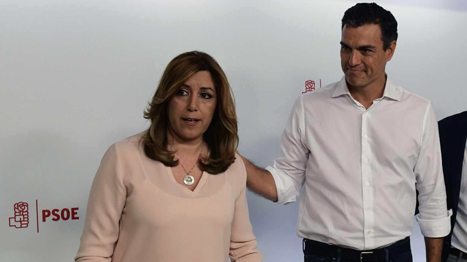 """Susana Díaz, la gran perdedora, promete """"arrimar el hombro"""" sin mencionar a Pedro Sánchez"""