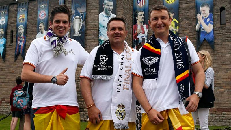 Los madridistas parten a Cardiff con la ilusión de volver con la 'Duocécima'