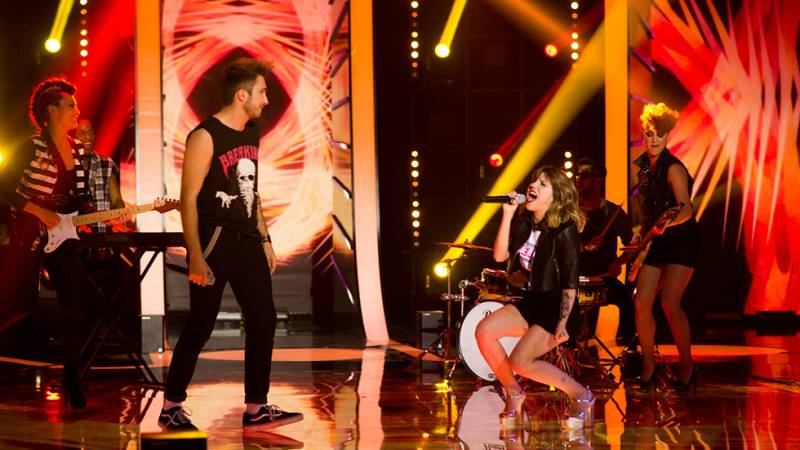 "Angy y Álex Row ponen el punto rockero con ""Sweet Child O'Mine"""