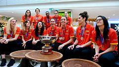 Las campeonas de Europa son recibidas por Rajoy en La Moncloa