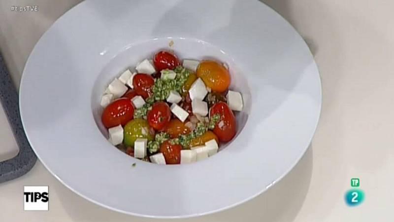TIPS - Sección de Sergio cocina - El reto con albahaca y mozzarella
