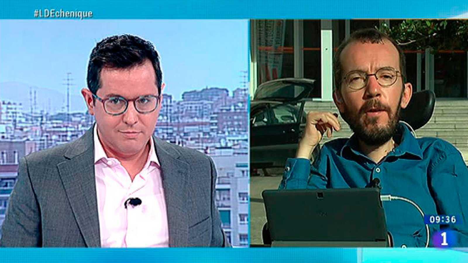 """Echenique, sobre el referéndum catalán: """"Yo no participaría porque es una consulta sin garantías"""""""