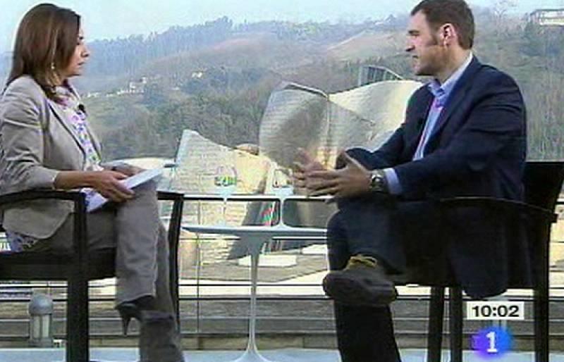 """El candidato de Eusko Alkartasuna, Unai Ziarreta, ha sido entrevistado por Pepa Bueno en """"Los Desayunos de TVE""""."""