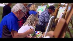 Hotel Romántico - Los huéspedes pintan el paisaje suizo