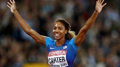 La exfutbolista Carter se corona en 400m vallas