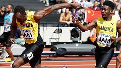 Bolt lidera a Jamaica en las series de 4x100m