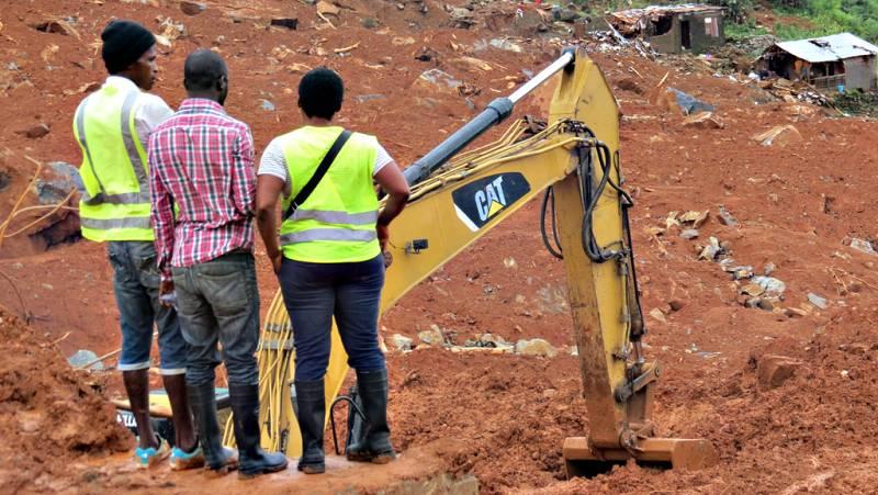 Continúa la búsqueda de supervivientes en Sierra Leona tras las lluvias torrenciales