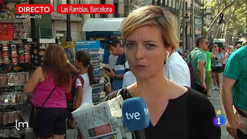 María Casado recorre el trágico paseo de las Ramblas