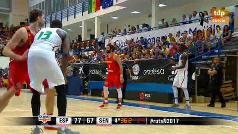 La selección española de baloncesto superó (80-69) a Senegal este  viernes en el cuarto duelo de preparación para el Eurobasket 2017  celebrado en el Pabellón Javier Imbroda de Melilla, gracias al paso  al frente en el tercer cuarto y una defensa 'in