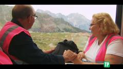Hotel Romántico - Los huéspedes viajan en el Bernina Express