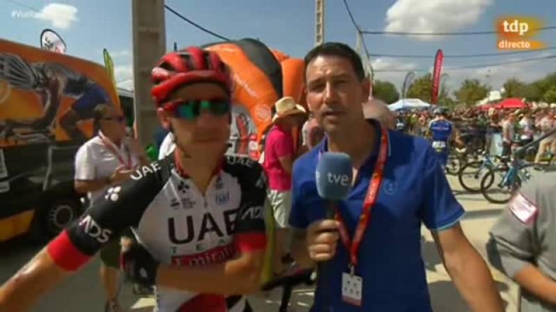 El corredor portugués analiza la Vuelta y su estado de forma y explica cómo lo plasma en su blog personal.