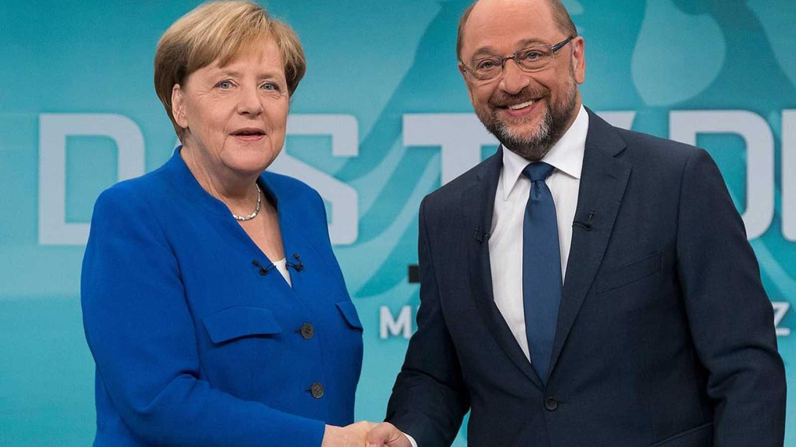 Elecciones en Alemania - Merkel gana el único debate televisado frente a Schulz, según las encuestas
