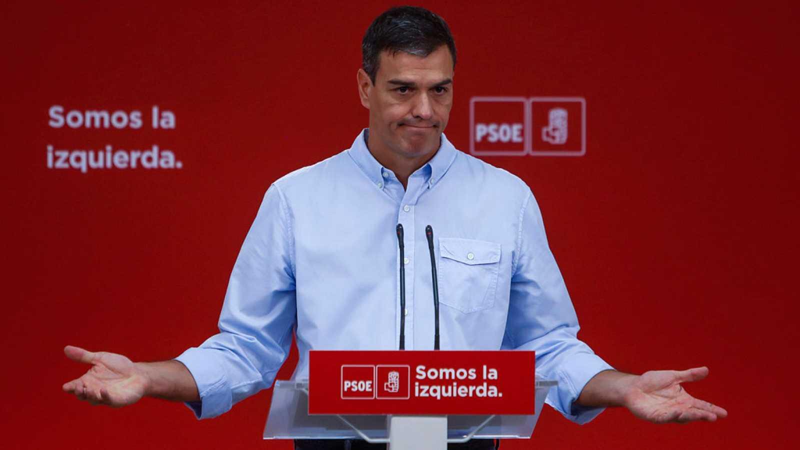 Pedro Sánchez ha vuelto a manifestar su apoyo al Gobierno en el desafío independentista