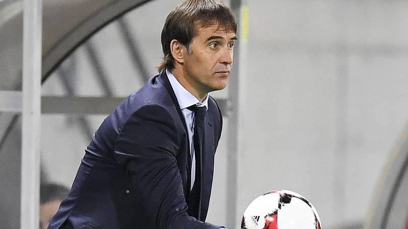 """El seleccionador español de fútbol, Julen Lopetegui, ha destacado la importancia de haber marcado pronto en la victoria contra Liechtenstein: """"el equipo ha salido enchufado y nos hemos puesto con ventaja muy pronto"""". El técnico ha lamentado la tarjet"""