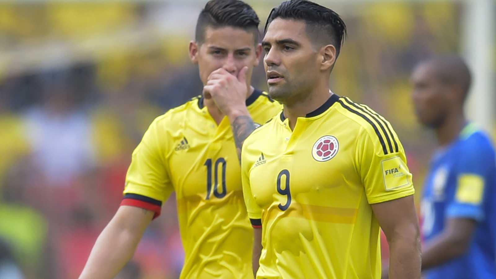 Colombia igualó el tanto de Willian con un cabezazo de Radamel Falcao.