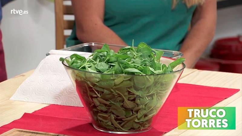 Trucos de cocina - Cómo conservar las espinacas