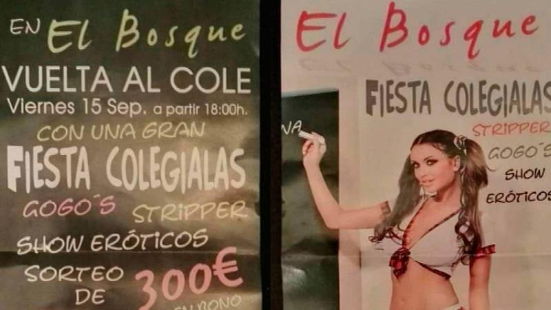 El Instituto Andaluz de la mujer ha denunciado una campaña publicitaria de un Club de Alterne de Cartaya, Huelva, al entender que incita a la pedofilia