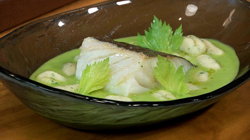 bacalao fresco en salsa de almendras