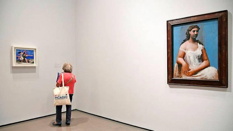 Picasso llegó a Roma por primera vez con 36 años en febrero de 1917 de la mano de su amigo Jean Cocteau