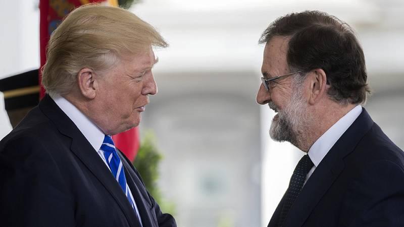 Trump recibe a Rajoy en la Casa Blanca