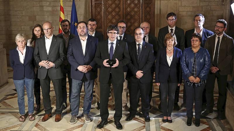 Referéndum en Cataluña: Puigdemont da por válido el 1-O y llevará el resultado al Parlament