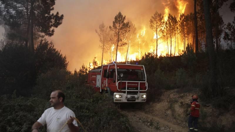 Seis grandes incendios asolan importantes zonas del centro y norte de Portugal