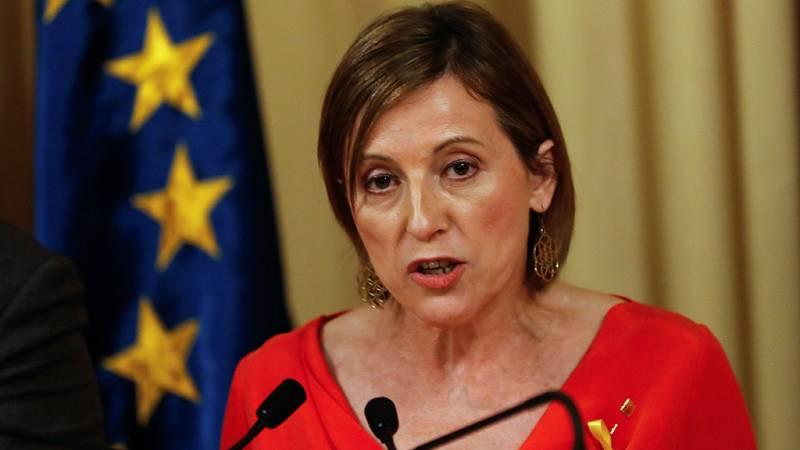 """Forcadell promete defender el Parlament del """"golpe autoritario"""" de Rajoy: """"No vamos a dar ningún paso atrás"""""""