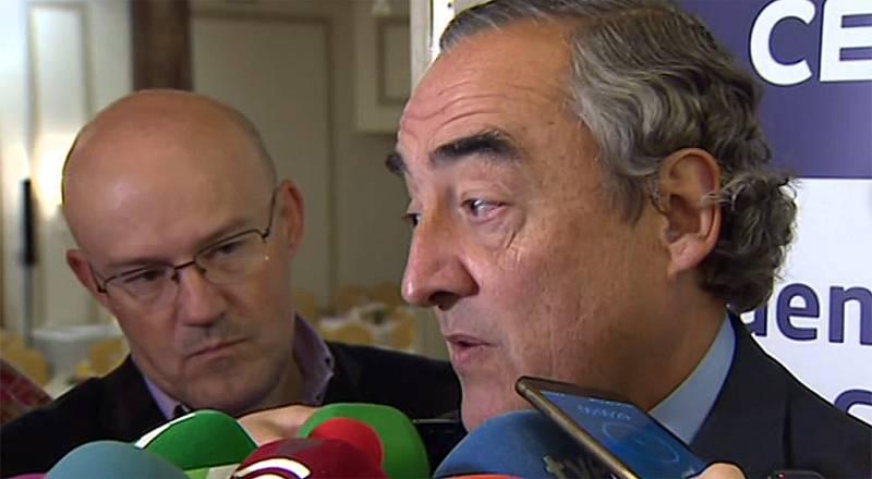 El presidente de la CEOE advierte de que el traslado de empresas afecta al 20% del empleo en Cataluña