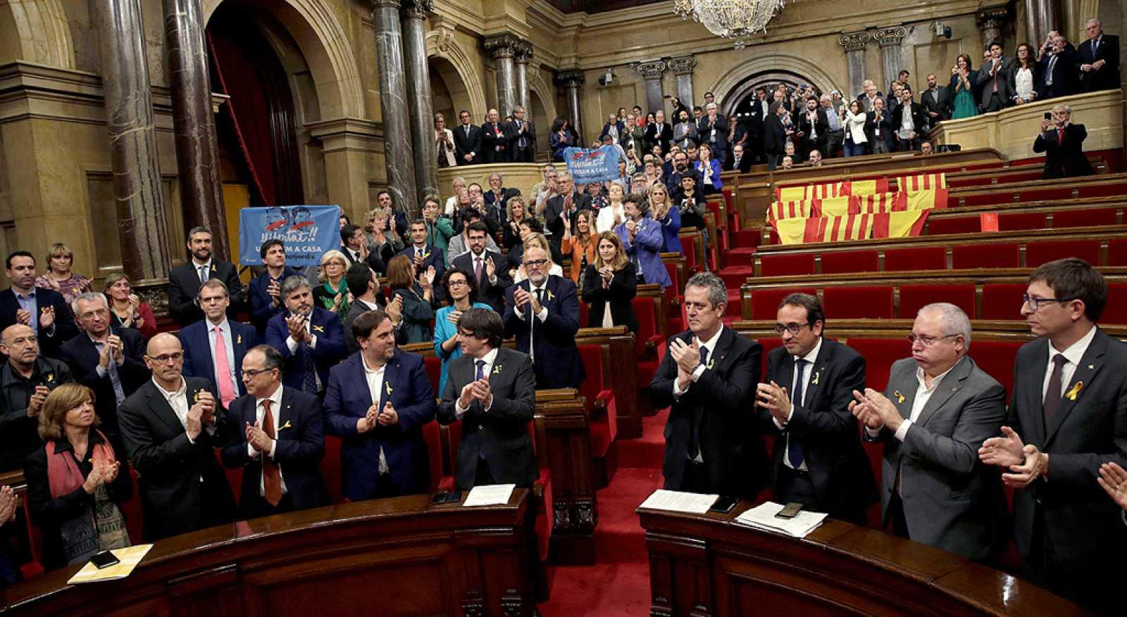 El Parlament declara la independencia de Cataluña en votación secreta y de forma unilateral