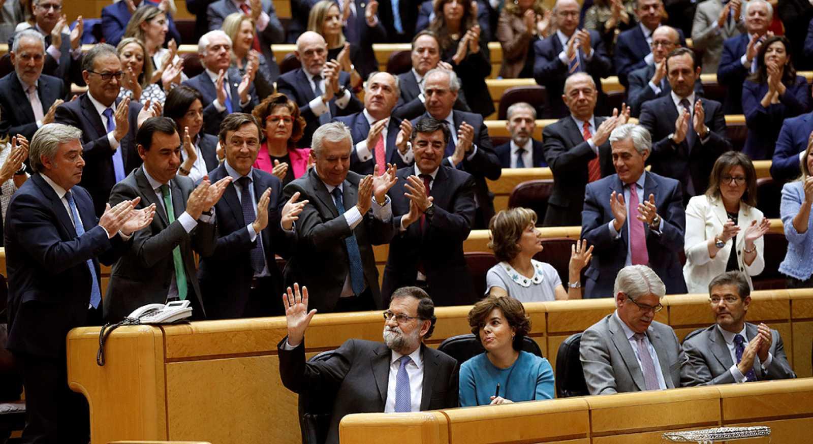 El Senado autoriza al Gobierno a aplicar las medidas del articulo 155 en Cataluña